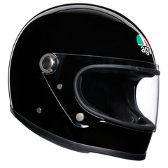 AGV X3000 Retro Racing Full Face Bike Helmet - Gloss Black