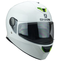 Shark Dark D-Skwal Full Face DVS Motorbike Motorcycle Helmet - Blank White - Shark -  - MSG BIKE GEAR - 1