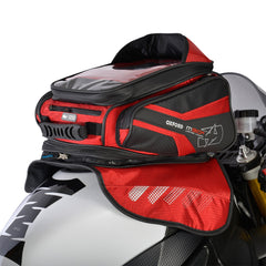 Oxford M30R Magnetic Motorcycle Tank Bag - Red - 30 Litres + Rain Cover - Oxford -  - MSG BIKE GEAR - 1