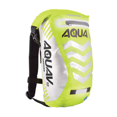 Oxford Aqua V 12 Visible Waterproof Cycling Motorcycle BackPack 12 Litres Yellow - Oxford -  - MSG BIKE GEAR