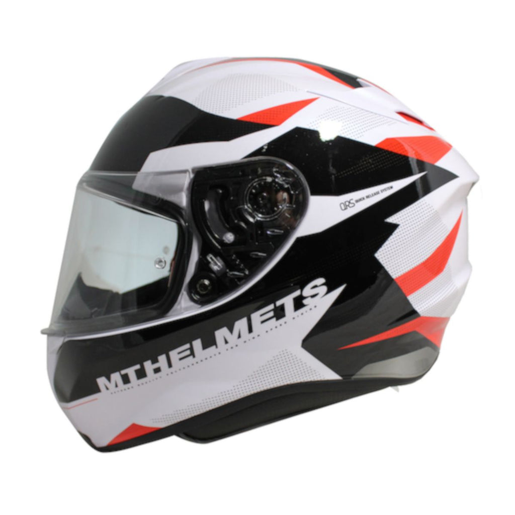 MT Targo Enjoy Full Face Helmets - Pearl White/Black/Red
