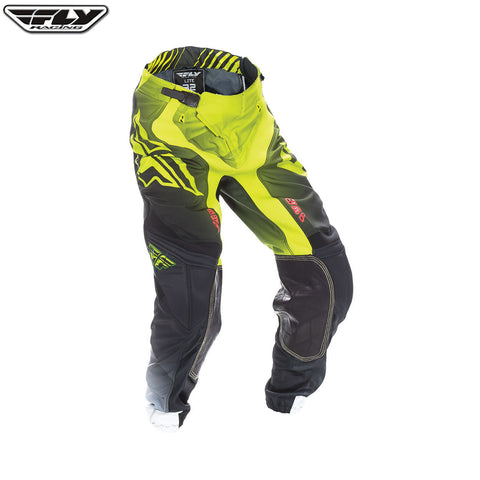 Fly 2017 Lite Hydrogen MX Motocross Downhill MTB BMX Pant - Lime/Black/White - Fly Racing -  - MSG BIKE GEAR - 1