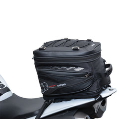 Oxford T40R Motorbike Motorcycle Tail Pack - Black - 40 Litres - Oxford -  - MSG BIKE GEAR