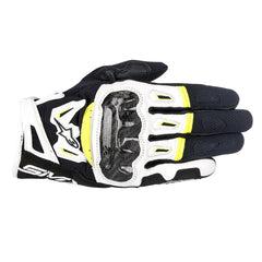 Alpinestars SMX-2 Air Carbon V2 Gloves - Black / White / Yellow