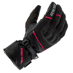 Richa Diana GTX Leather/Textile Ladies Gloves - Black/Pink