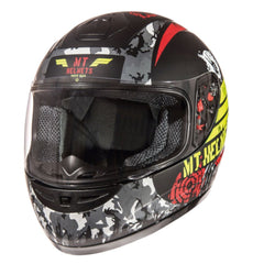 MT Thunder Sniper (Kids) Full Face Helmets - Matt Black/Yellow