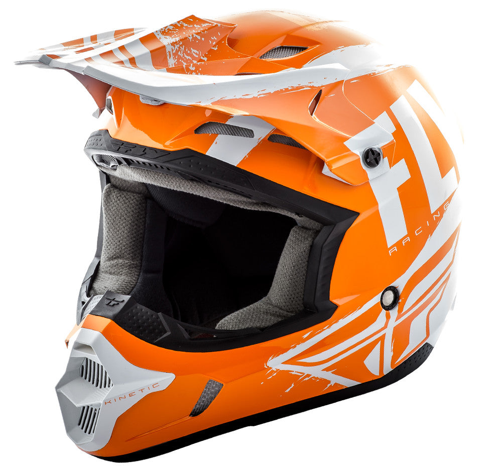 Fly Racing 2018 Kinetic Burnish MX Helmet - Orange / White