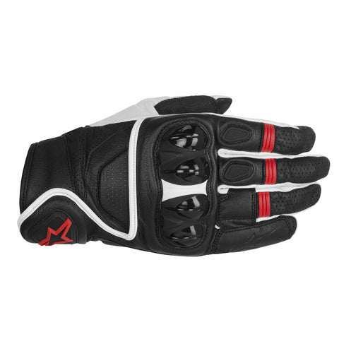 Alpinestars Celer Short Leather Motorcycle Sports Gloves - Black/White/Red - Alpinestars -  - MSG BIKE GEAR