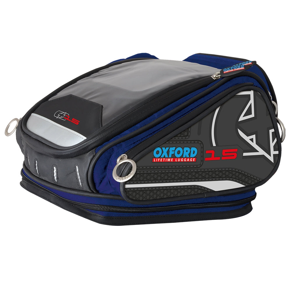 Oxford X15 Quick Release 15L Waterproof Tank Bag - Blue