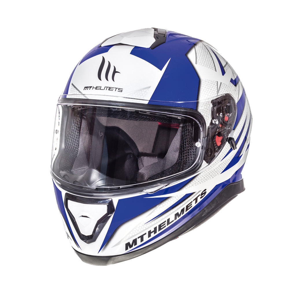 MT Thunder 3 SV 'Effect' Helmet - White / Blue