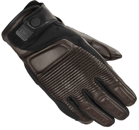 Spidi Garage Classic Leather / Textile Gloves - Brown