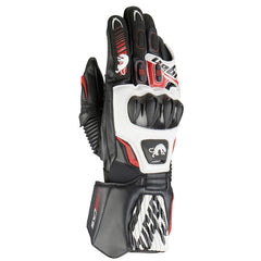 Furygan FIT-R Leather Racing Sports Gloves - Black/White/Red