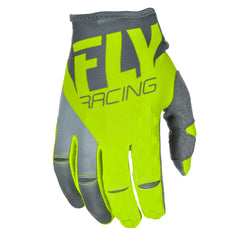Fly Racing 2018 Kinetic MX Gloves - Grey / Hi-Viz
