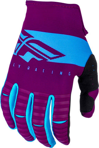 Fly Racing 2019 Youth Kinetic Shield Motocross Gloves - Port / Light Blue