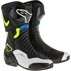 Alpinestars SMX-6 V2 Boots - Black / White / Yellow / Blue