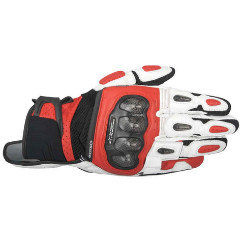 Alpinestars SP-X Air Carbon Leather Short Motorcycle Gloves - Black/White/Red - Alpinestars -  - MSG BIKE GEAR