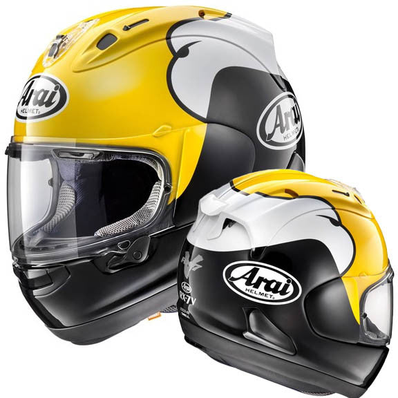 Arai RX-7V Full Face Race Motorbike Motorcycle Crash Helmet Lid Kenny Roberts - Arai - - MSG BIKE GEAR - 1