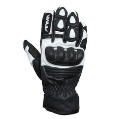 ARMR SHL840 Leather Sports Gloves - Black / White