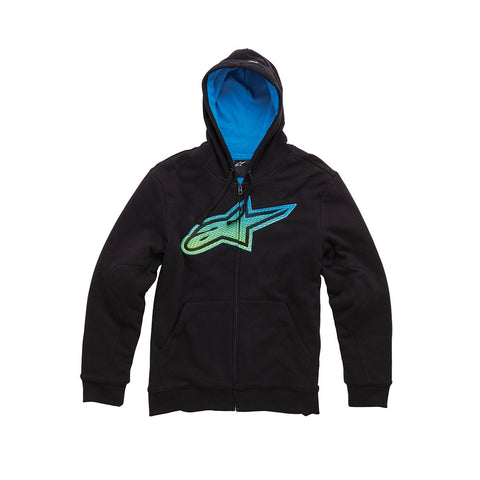Alpinestars Passive Casual Fleece Zip Up Hoody Hoodie -  Black - ALPINESTARS -  - MSG BIKE GEAR - 1