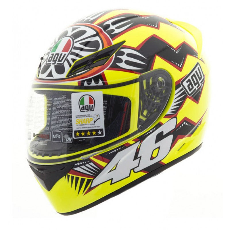 AGV K3 ROSSI BRAZIL 2001 FULL FACE REPLICA MotoGP MOTORCYCLE HELMET - AGV -  - MSG BIKE GEAR - 1
