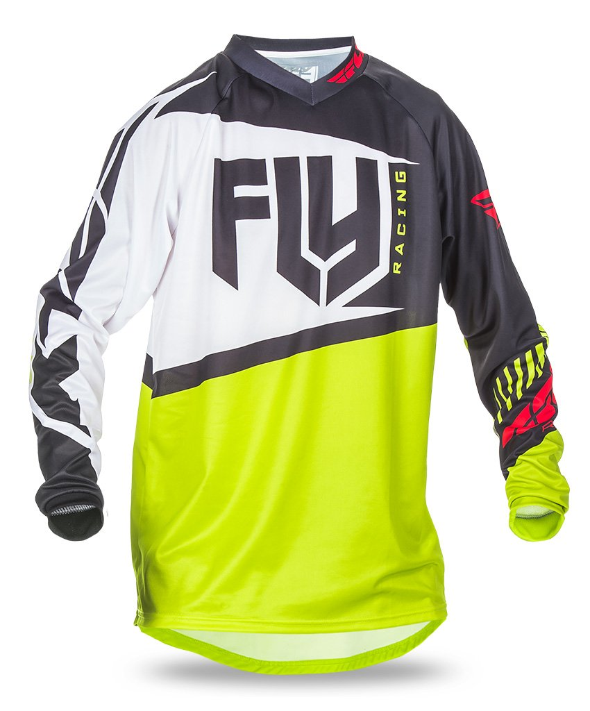 Fly 2017 F-16 MX Motocross MTB Downhill Adult Jersey Black/Lime - Fly Racing -  - MSG BIKE GEAR - 1