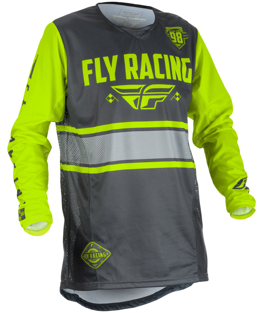 Fly Racing 2018 Kinetic Era MX Jersey - Grey / Hi-Viz