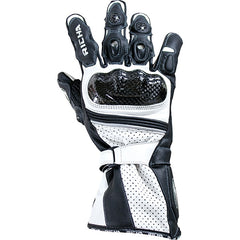 Richa Ravine Sports Race Carbon Fibre Motorcycle Gloves Black/white - Richa -  - MSG BIKE GEAR