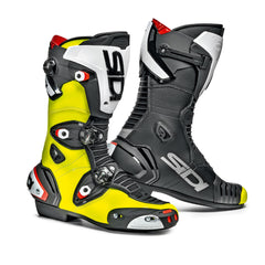 SIDI MAG 1  MOTORCYCLE CE APPROVED RACE TRACK BOOTS YELLOW FLUOBLACK - SIDI -  - MSG BIKE GEAR