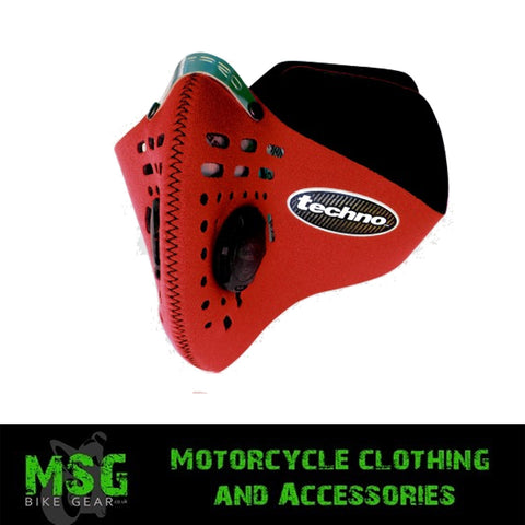 RESPRO TECHNO ANTI POLLUTION FACE MASK - RED - Respro -  - MSG BIKE GEAR