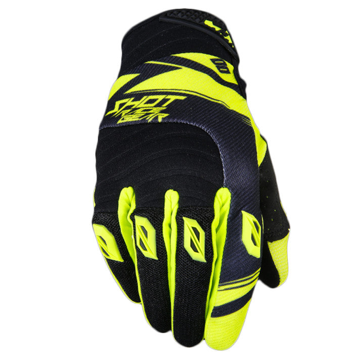 Shot Contact Claw MX Off Road Dirt Bike Motocross Bike Gloves - Neon Yellow - Shot -  - MSG BIKE GEAR - 1