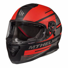 MT Thunder 3 SV Pitlane Full Face Helmets - Matt Black/Red