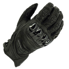 Richa Stealth CE Cerified Sports Motorbike Motorcycle Leather Gloves - Black - Richa -  - MSG BIKE GEAR - 1