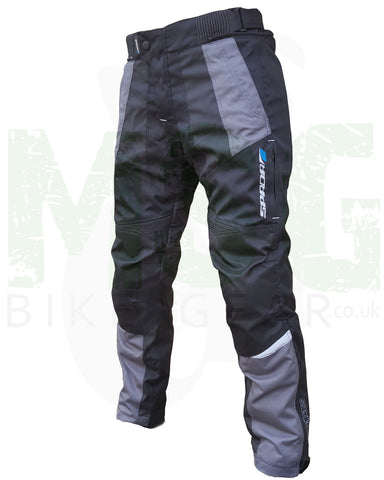 Spada Compass Waterproof Textile Motorcycle Trousers - Black / Grey - Spada -  - MSG BIKE GEAR - 1