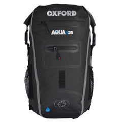 7b9cdaffe3 Oxford AQUA B25 Motorcycle Scooter All Weather Waterproof BackPack - BLACK GREY  - Oxford -