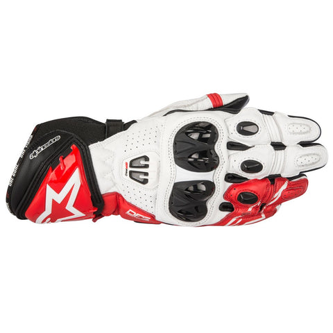 Alpinestars GP Pro R2 Leather Racing Track Motorcycle Gloves Black/White/Red - Alpinestars -  - MSG BIKE GEAR - 1