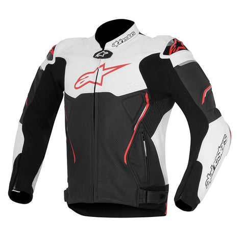 Alpinestars Atem Sports Track Leather Motorcycle Jacket - Black/White/Red - Alpinestars -  - MSG BIKE GEAR - 1