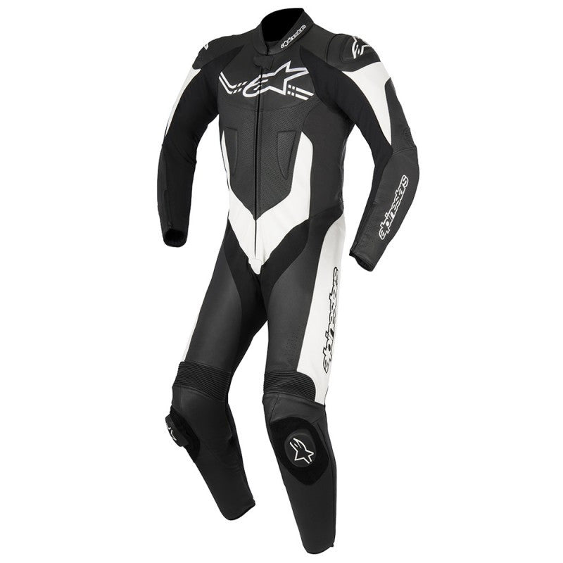 Alpinestars Challanger V2 One Piece Leather Suit - Black / White