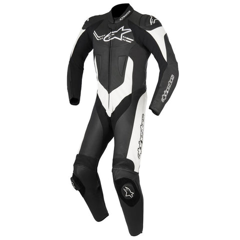 Alpinestars Challanger V2 1 Pc Leather Motorcycle Suit - Black/White