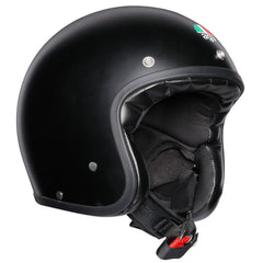 AGV Legends X70 Retro Open Face Helmet - Matt Black