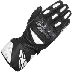 AlpineStars SP-2 Leather Sports Race Motorcycle Gloves - Black/White - Alpinestars -  - MSG BIKE GEAR - 1