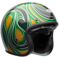 Bell Custom 500 Open Face Helmet - Chem Candy Mean Green