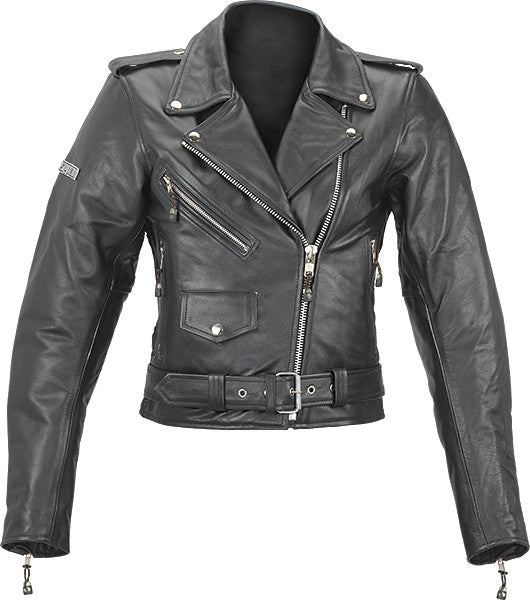 Spada Retro Cruiser Ladies Leather Classic Motorcycle Jacket - Black - Spada -  - MSG BIKE GEAR