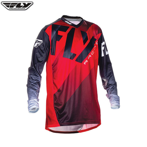 Fly 2017 Lite Hydrogen MX Motocross Downhill MTB BMX Jersey - Red/Black/White - Fly Racing -  - MSG BIKE GEAR