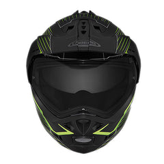 CABERG TOURMAX SONIC DUAL SPORT MOTORCYCLE HELMET - MATT BLACK/YELLLOW - Caberg -  - MSG BIKE GEAR - 1