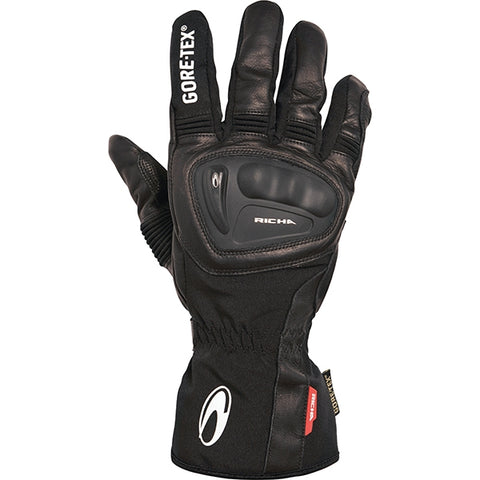 Richa Hurricane GTX GoreTex Waterproof Gloves - Black