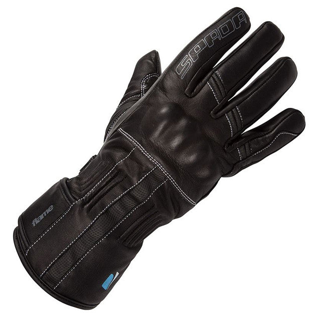 SPADA FLAME WATERPROOF LADIES TOURING MOTORCYCLE LEATHER GLOVES - BLACK NEW - Spada -  - MSG BIKE GEAR - 1