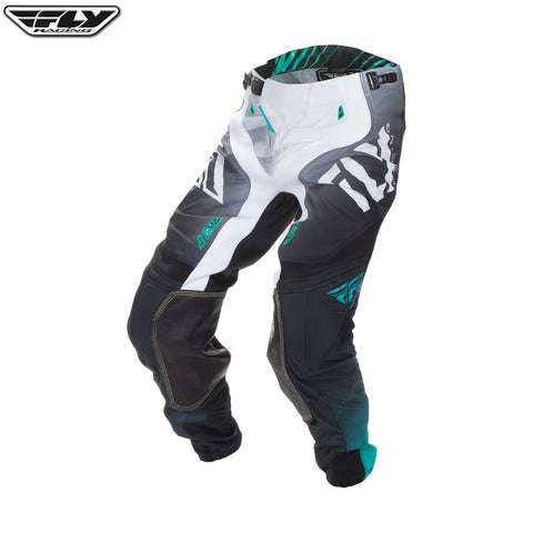 Fly 2017 Lite Hydrogen MX Motocross Downhill MTB BMX Pant - Black/White/Teal - Fly Racing -  - MSG BIKE GEAR - 1