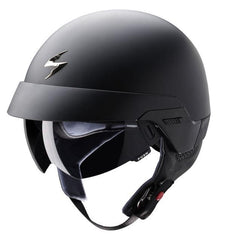 Scorpion Exo 100 DVS Open Face Bike Scooter Motorcycle Helmet Matt Black - Scorpion EXO -  - MSG BIKE GEAR