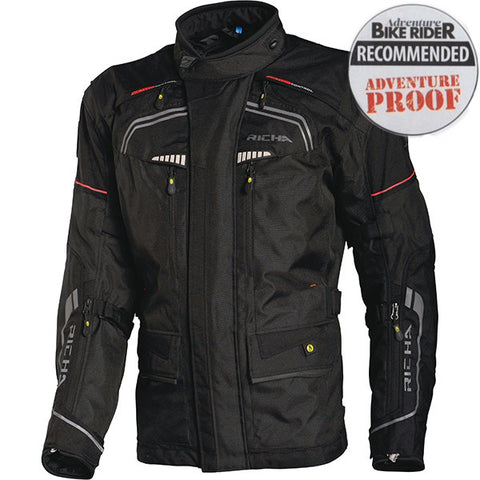 Richa Infinity Waterproof Textile Motorcycle Jacket.Black mens - Richa -  - MSG BIKE GEAR - 1