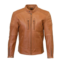 Merlin Draycott Leather Jacket - Brown